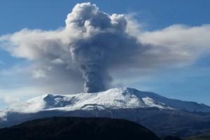 Vulkanische tremor gemeten bij Nevado del Ruiz