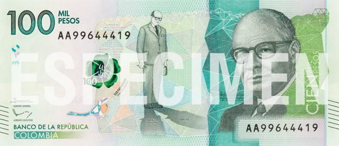 Nieuw bankbiljet 100.000 pesos