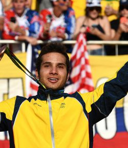 Carlos Ramirez pakt brons in de BMX-finale