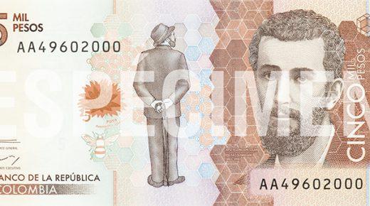 Het nieuwe bankbiljet van 5.000 pesos