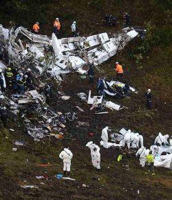 Vliegtuigcrash Colombia: dodental bijgesteld naar 71