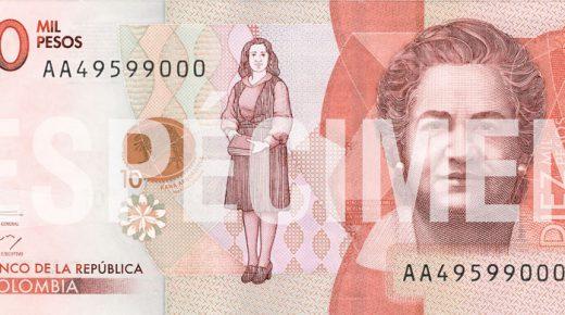Het nieuwe bankbiljet van 10.000 pesos in omloop