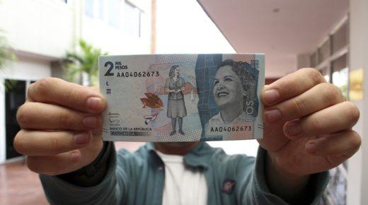 Het nieuwe bankbiljet van 2000 pesos in omloop