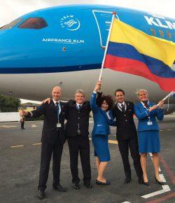 KLM maakt eerste vlucht naar Cartagena