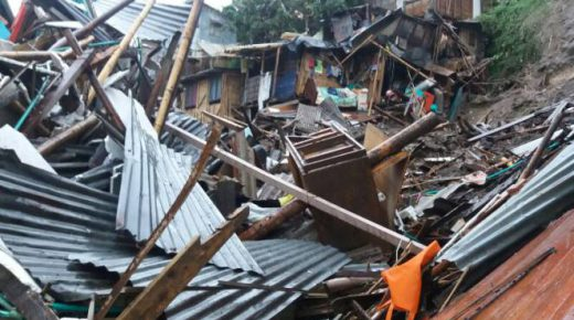 11 doden en 20 vermisten door aardverschuivingen in Manizales