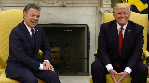 President Santos positief over ontmoeting Donald Trump