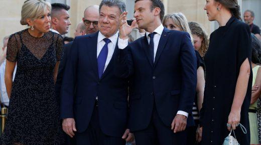 Santos bedankt Frankrijk voor hulp aan Colombia