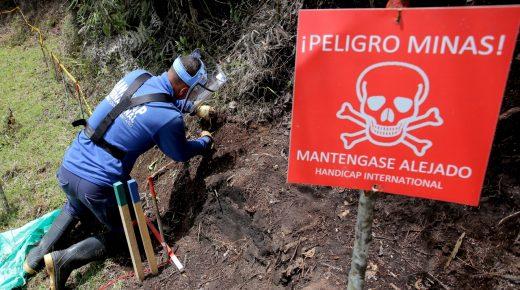 Colombia verklaart 166 gemeenten vrij van landmijnen