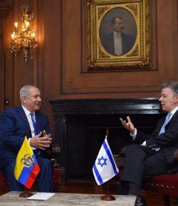 Israëlische premier Netanyahu wil hulp bieden aan wederopbouw Colombia