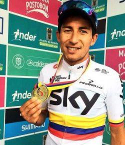 Sergio Henao weer Colombiaans kampioen op de weg