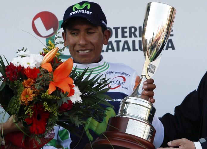 Nairo Quintana wint Ronde van Catalonië