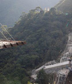 Instorting hangbrug Chirajara veroorzaakt door ontwerpfout