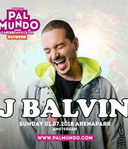 J Balvin treedt op tijdens Pal Mundo Outdoor