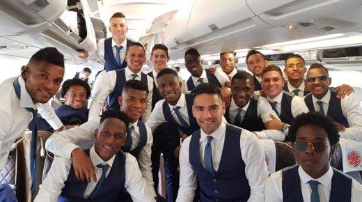 Colombiaanse ploeg op weg naar Rusland