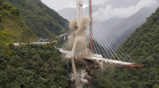 Restanten hangbrug Chirajara opgeblazen (video)