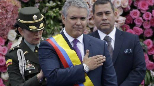 Ivan Duque beëdigd tot nieuwe president van Colombia