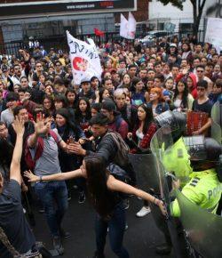 Protestmarsen voor een beter openbaar onderwijssysteem