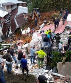 Modderstroom doodt 12 inwoners van Marquetalia