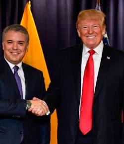 President Donald Trump bezoekt Colombia op 2 december