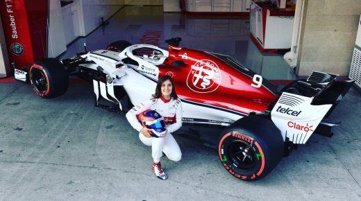 Tatiana Calderon, de eerste Latijns-Amerikaanse vrouw die met een F1-auto rijdt