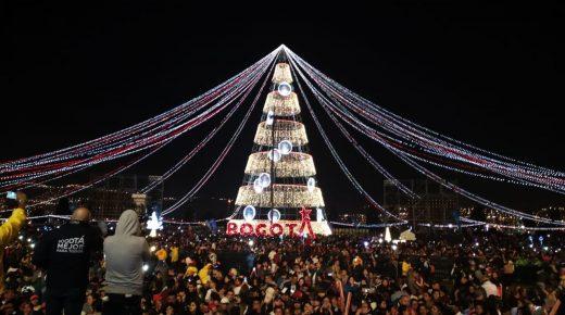 Bogotá heeft de grootste kerstboom van Colombia