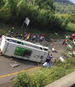 Negen doden bij busongeluk in Valle del Cauca